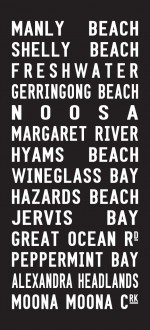 Manly Beach tram scroll