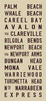 Palm Beach Vintage Tram Scroll Canvas Word Art|Palm Beach Vintage Tram Scroll Canvas Word Art