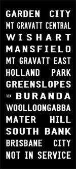 GARDEN CITY tram banner, Brisbane tram scroll