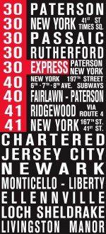 New Jersey Bus Scroll