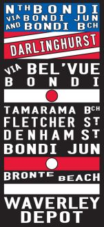 Bronte Tram art, bus sign print on canvas