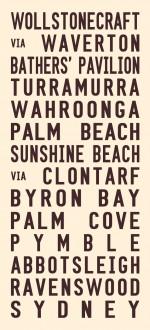 vintage tram signs