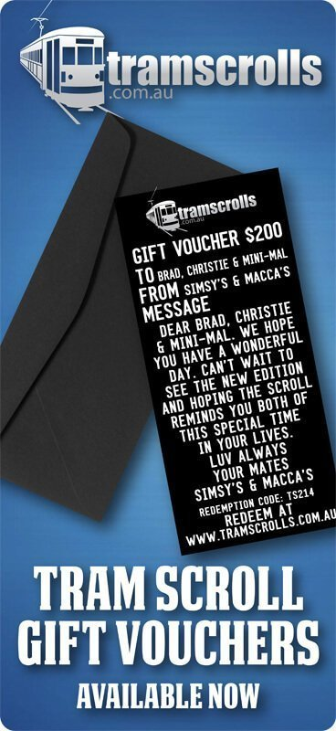 Tram Scroll Gift Vouchers