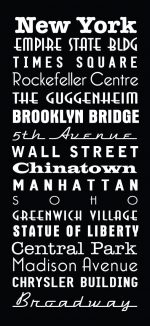 New York Multi Font style