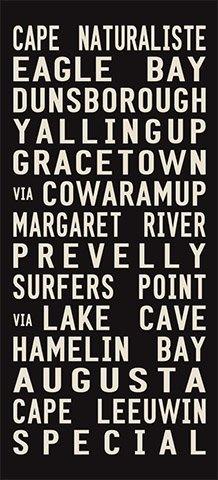 Cape Naturalistevia Margaret River Canvas Word Art|Cape Naturaliste - Full Line