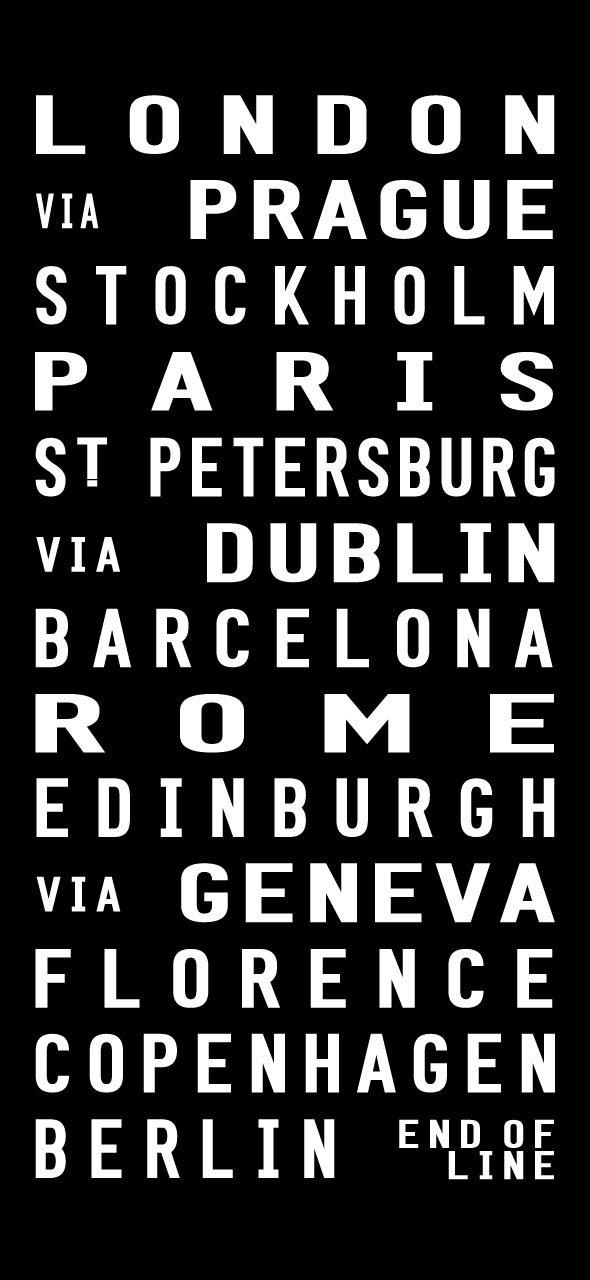Tram Scroll European cities from London to Berlin|European Cities
