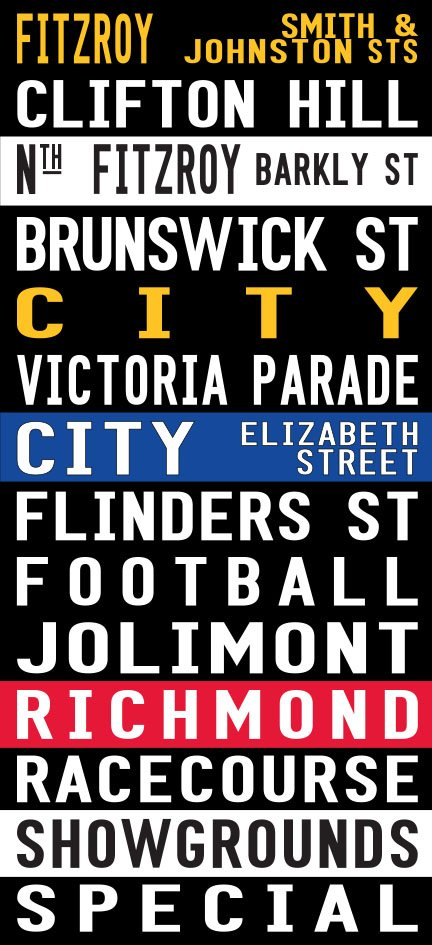 Fitzroy to Richmond Bus and Tram Banner|Fitzroy - Coloured