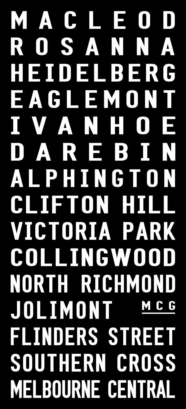Hurstbridge Line Melbourne Train Word Art