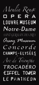 Multi-Font Paris Scroll|Multi-Font Paris Scroll