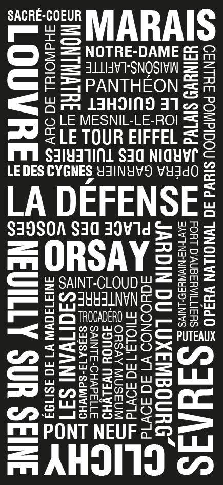 Paris Word Art Framed Print Online|Paris Modernista Design