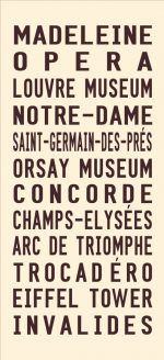 Vintage Paris Tram Roll Signs Wall Art Online Gallery|Paris - Full Line - cream