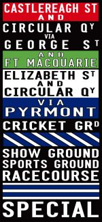 Castlereagh Street to the Racecourse via Pyrmont Sydney Tram Scroll|Sydney Replica Tram Scroll