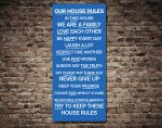 House Rules Typographic Destination Artwork on Canvas