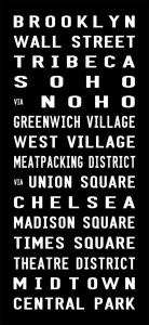 Brooklyn Subway sign Art, destination canvas, bus canvas, bus blind